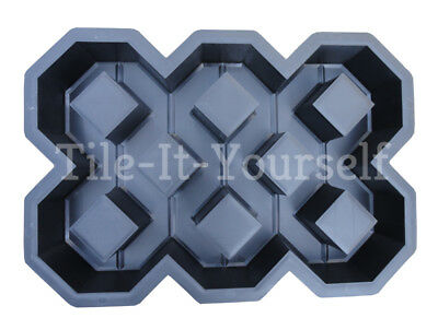 Large Plastic Garden Mould Concrete Paving Path Slab Brick Floor Patio Driveway