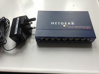 Netgear FS108 V2 Prosafe 8 Port 10/100 Network Switch