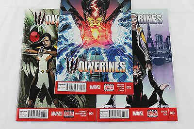 Wolverines # 2, 3, 4 NM Lot of three Marvel Comics