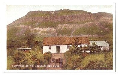 Sligo COTTAGE ON MOUNTAIN SIDE IRELAND EIRE OLD POSTCARD 1952