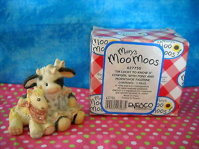 "Mary's Moo Moos ""i'm Lucky To Know U"" Sty#627755 431Mm419 W/box"