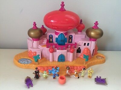 Disney Polly Pocket Aladdin Palace Complete With Figures