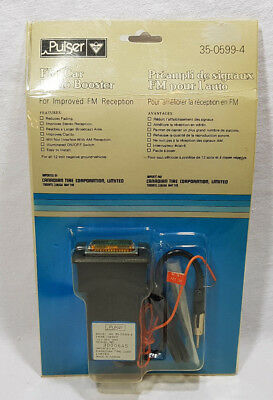 Pulser (Canadian Tire) FM Car Radio Booster Improve FM Reception #35-0599-4