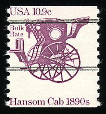 US #1904a 10.9¢ Floating Hansom Cab Miscut VF NH MNH