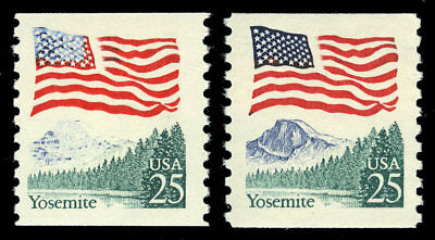 """US #2280 """"Misty Mountains"""" Color Error Variety NH MNH"""
