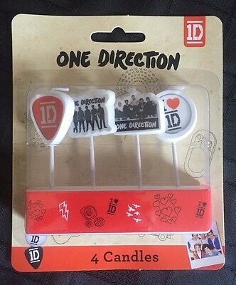 1D One Direction Birthday Candles 4pk