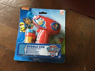 Nickelodeon Paw Patrol Bubble Gun With Bubbles Hours of Fun