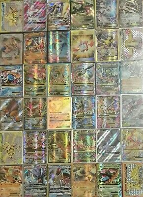 Lotto 70 CARTE POKEMON ULTRA RARA GARANTITA (EX FA GOLD STAR FULL ART GX) LEGGI