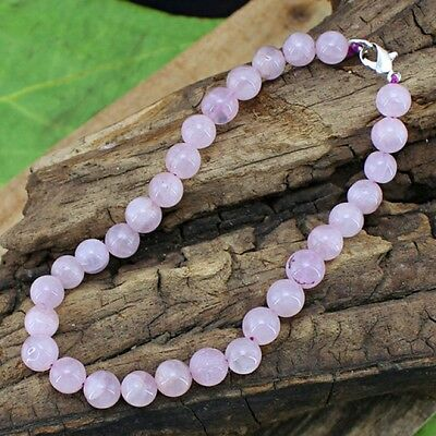 Bracelet en Perles Naturelles de Quartz Rose 5x5x5mm