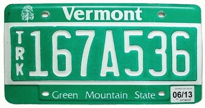 """Vermont 2013 """"Green Mountain State"""" Debossed Truck License Plate"""