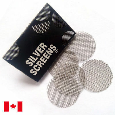 """500 Piece Silver 3/4"""" 0.75"""" Stainless Steel Tobacco Smoking Pipe Screens"""