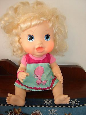 2012 Hasbro Baby Alive Better Now Blonde Doll Cheeks Light Up Talks Eng/French