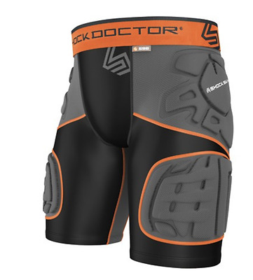 NEW Shock Doctor Ultra ShockSkin 5-pad EXT Thigh Impact Short