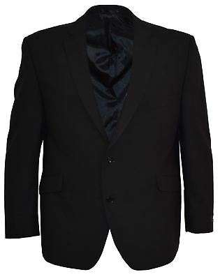 SCOTT Mens Slim Fit Plain Black Jacket