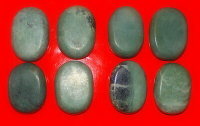 Set of 8 Jade Oval Medium Hot Massage Stones 6*4*2 cm Kit