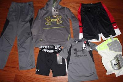 Boys Clothing Lot Under Armour Storm Hoodie Nike Shorts Ua Shirt $250 Xs Sm Nwt