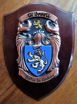 McDowell - Family Crest - Coat of Arms - Wall Plaque