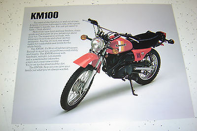 1981 Kawasaki KM100cc Sales Brochure,Genuine NOS, 2Pages.