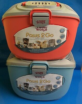 Living World Paws 2 Go Small Animal Rabbit Cat Bird Pet Holiday Travel Carrier