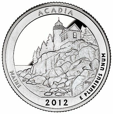 "National Park ATB Quarter UNC. Roll of 40 "" P "" Mint 2012 #13 Acadia ME"