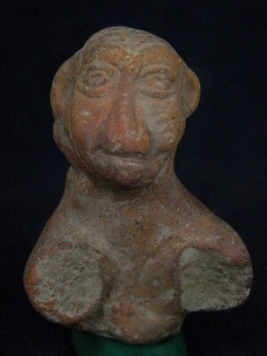 "Ancient Indus Valley Teracotta Idol Bust C.800 Bc   """"r726"""""