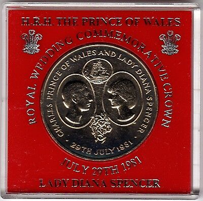 1981 St Helena Lady Diana Spencer Commemorative 25p Cased Crown***Collectors***