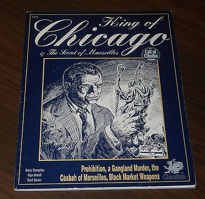CHA2348 CALL OF CTHULHU: KING OF CHICAGO +THE SECRET OF MARSEILLES Chaosium 1994