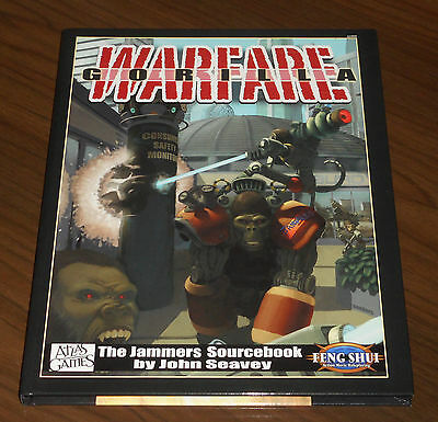 FENG SHUI: GORILLA WARFARE THE JAMMERS SOURCEBOOK HC Atlas Games 2003 COME NUOVO