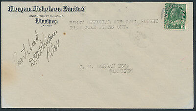 1928 AAMC #2803i Gold Pines to Rolling Portage Flight, Pilot Signed
