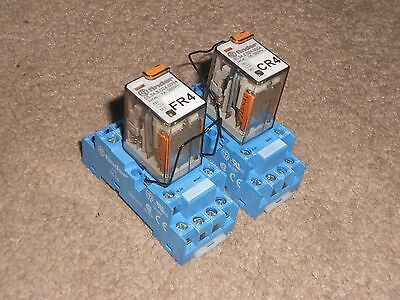 2 X Genuine Finder Relay + Base 94.74 ( 24V Ac Relay ) + Strap ** Cheap **