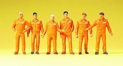 Preiser 68212 Monteure (orange) ; 1:50 Figuren