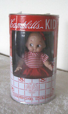 Campbells Soup Kid Doll - Junior Series,  Horsman 1998,  In Metal Can/Bank, New