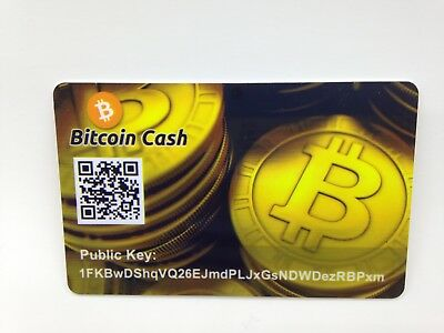 Bitcoin Cash Card PVC Plastic Paper Wallet Durable SAFE and SECURE Cold Storage