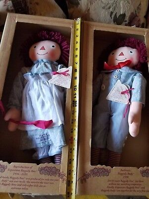 MIB Applause 1998 Limited Edition 1930s  Exposition Raggedy Ann & Andy Dolls