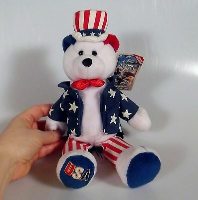 Sam the All American Bear Hometown Heroes Collection 4th July Plush Stuffed New