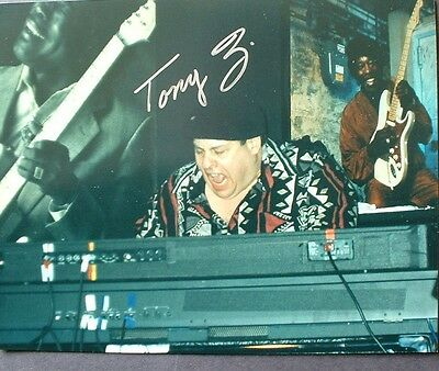 Bluesman Tony Z Handsigned 8X10 Photo Buddy Guy