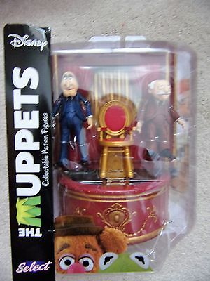THE MUPPETS STATLER and WALDORF Collectable Action Figures Diamond Selecr Disney