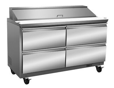 ICB Stainless Steel Sandwich/Salad Prep Tables with Drawers
