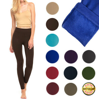 Women's Fleece Lined Leggings NEW HIGH QUALITY Regular & Plus Size