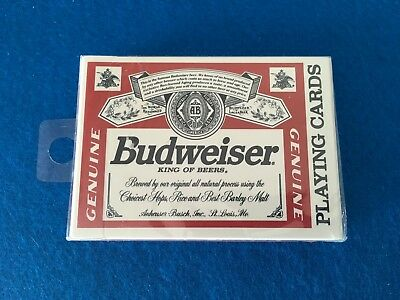 Budweiser Playing Cards - Unused in Original Packaging