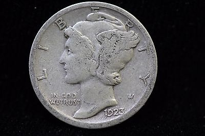 1923-S Mercury Dime LOT #1I21 VF 10C 10 Cent US Silver Coin