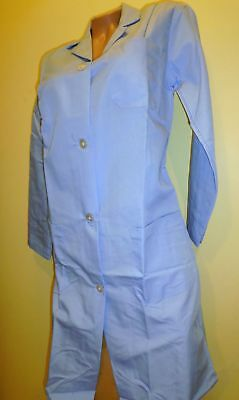 "Best Medical Woman L/S Lab Coat 3 pockets Lt Blue 38"" Length Large (38)"