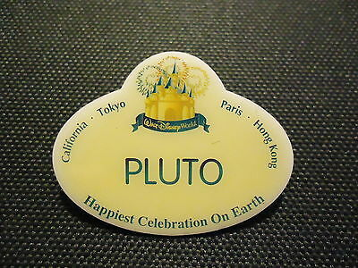 Disney Cast Exclusive 50Th Anniversary Name Tag Replicas Pluto Pin Le 5000