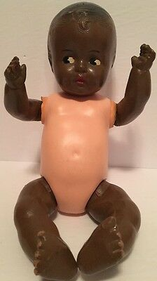 Antique 1939 Composition Reliable Black American Tipsy Babykins Doll For PARTS o