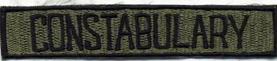 OBSOLETE CONSTABULARY PATCH  SIZE 133 mm x 25 mm