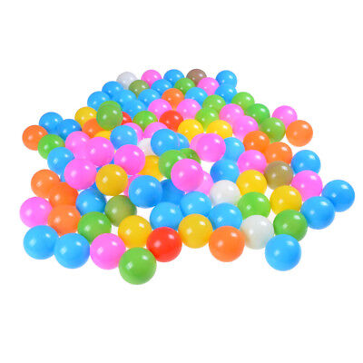 100 Pcs Eco-Friendly Soft Plastic Tent Water Pool Ocean Wave Ball Colorful PT*