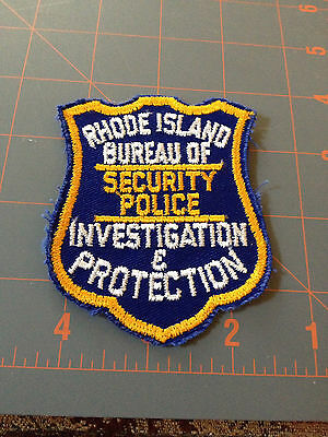 Rhode Island Security Police Investiagtion Protection Patch Bureau Detective RI