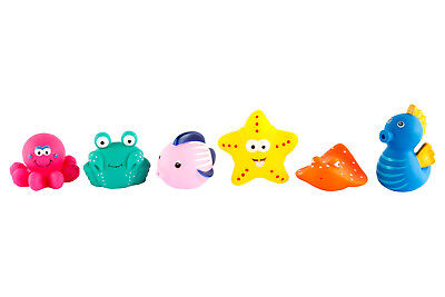 NEW Sunnylife Sea Creatures Bathtime Squirters 6pk | Baby Bath Toys | ihartTOYS