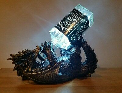 Dragon Jack Daniels bottle lamp