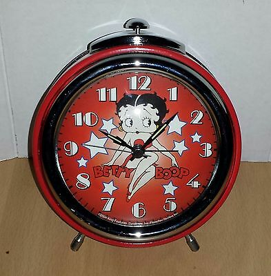 Vintage Betty Boop Round Collectible  Red Clock